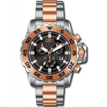 Invicta Pro Diver Chronograph Rose Dial Two-tone Mens Watch 13628