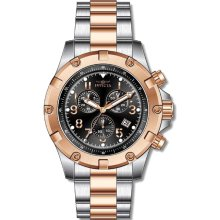 Invicta Specialty Chronograph Black Dial Two-Tone Mens Watch 13617