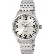 Invicta Specialty Silver Dial Stainless Steel Mens Watch 0370