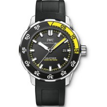 IWC Aquatimer Black Dial Rubber Strap Automatic Mens Watch 3568-10