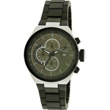 Kenneth Cole Mens New York Sport Chronograph Stainless Watch - Green Rubber Strap - Green Dial - KC9003