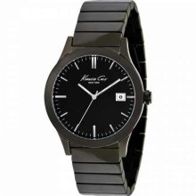 Kenneth Cole Mens New York Analog Stainless Watch - Black Bracelet - Black Dial - KC9117