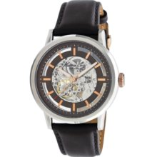 Kenneth Cole New York Watch, Mens Automatic Brown Leather Strap KC1718
