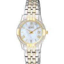 Ladies Citizen Eco-drive Watch, 2-tone, Diamond Bezel, Ga1014-54d