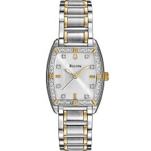 Ladies' Highbridge Two-Tone Silver & Gold Stainless Steel Quartz Watch