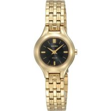 Ladies' Seiko Solar Gold-tone Stainless Steel Watch