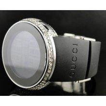 Ladies Ya114401 I Gucci Digital Genuine Diamond Watch Two Timezone