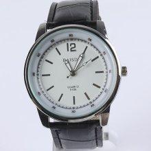 Leather Sport Casual Men's Lady Women Quartz Wrist Watch As Xmas Gift
