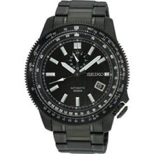Men's Black Stainless Steel Superior Automatic Black Dial