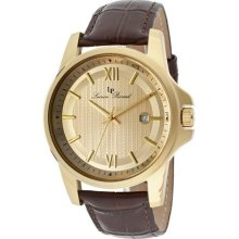 Men's Breithorn Gold Dial Brown Genuine Leather ...
