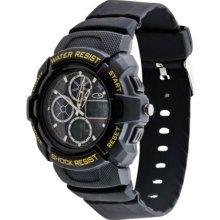 Men's C9 by Champion Analog Digital Watch - Black/Yellow