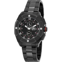 Men's Invicta 7300 Signature Multi-function Black Dial Stainless Watch
