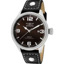 Men's Reserve Diver Chronograph Swiss Quartz Black Dial Strap Orange