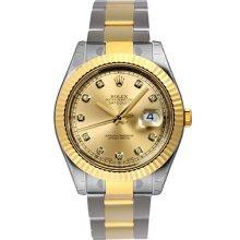 Men's Rolex Datejust II Watch 116333 Factory Champagne Dial
