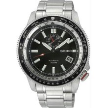 Men's Stainless Steel Superior Automatic Black Dial Tachymeter
