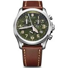 Men's Victorinox Swiss Army Infantry Vintage Chronograph Watch with Olive Green Dial (Model: 241287) swiss army