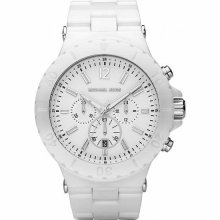 Michael Kors Chronograph White Ceramic Ladies Watch