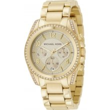 Michael Kors Gold-Tone Chronograph Ladies Watch MK5166