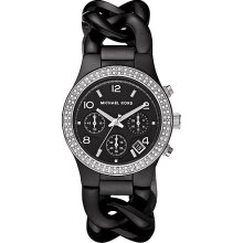 Michael Kors Ladies Twist Ceramic Crystal Watch MK5388