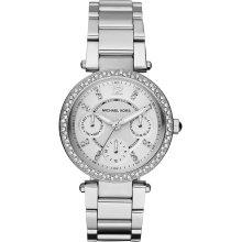 Michael Kors Unisex Silvertone White Dial Watch MK5615