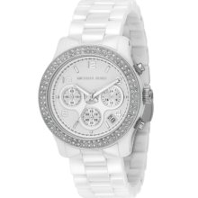 Michael Kors Watch, Womens Chronograph Runway White Ceramic Bracelet 4