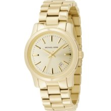 Michael Kors Watch, Womens Runway Gold Ion-Plated Stainless Steel Brac