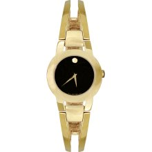 Movado 0604758 Watch Amorosa Ladies - Black Museum Dial Stainless Steel Case Quartz Movement