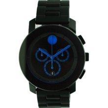 Movado Men's Black Bracelet Chronograph Watch (Movado Bold Large Black Bracelet .)