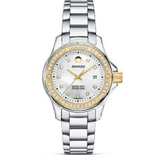 MOVADO Series 800 2600093 Two-tone Stainless Steel Diamond Watch