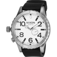 Nixon 51-30 PU Watch - Men's White, One Size