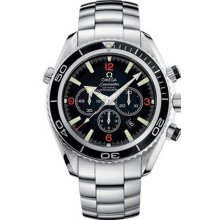 Omega Men's Seamaster Planet Ocean Stainless Steel Case and Bracelet Black Dial Chronograph Automatic O221051