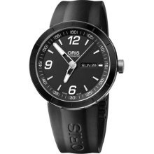 Oris 73576514174RS Watch Day Date Mens - Black Dial Stainless Steel Case Automatic Movement