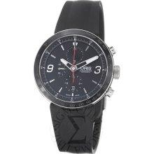 Oris Mens Tt1 Black Dial Black Rubber Strap Automatic Watch 67476594174rs