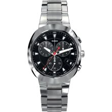 Rado R15937153 Watch D-Star Mens - Black Dial Stainless Steel Case Automatic Movement