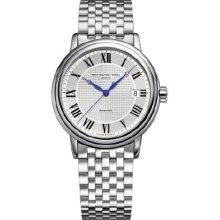 Raymond Weil 2837-ST-00659 Watch Maestro Mens - Silver Dial Stainless Steel Case Automatic Movement