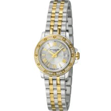 Raymond Weil Tango Ladies Diamond Bezel Two Tone 28mm Watch - Silver Dial, Two Tone Bracelet 5399-SPS-00657 Sale Authentic