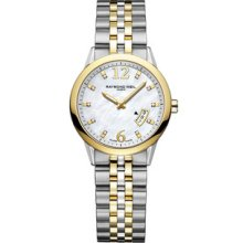 Raymond Weil Watch Freelancer Date Two-tone 10 Diamonds Authentic: Box & Papers