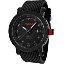 Red Line Watch 18001-01gr-bb Men's Compressor Dark Grey Dial Black Silicone