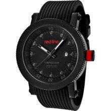 Red Line Watches Men's Compressor Dark Grey Dial Black Silicone Black