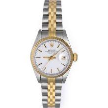 Rolex Datejust Ladies 2-Tone Watch 69173 White Dial