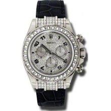 Rolex Watches Daytona White Gold Diamond Bezel 116599TBR
