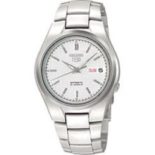 Seiko 5 Automatic Day/Date White Dial Men's watch