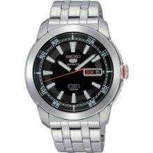 Seiko 5 Black Dial Automatic Mens Watch SNZH63