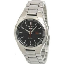 Seiko 5 Black Dial Stainless Steel Mens Watch Snk607 Casual Wristwatch Fast