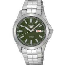 Seiko 5 Black Stainless Steel Automatic Mens Watch SNKL05