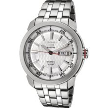 Seiko 5 Silver Dial Automatic Stainless Steel Automatic Mens Watch SNZH61