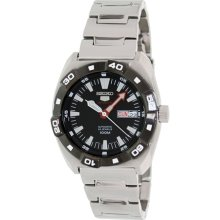 Seiko 5 Sports Automatic black Dial Stainless Steel Mens Watch SRP285