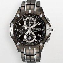 Seiko Men's SNAE57 Two-Tone Stainless-Steel Quartz Watch with Black Dial