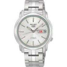 Seiko Men's Snkk65 Seiko 5 Automatic Silver Dial Stainless-steel Bracelet Watch