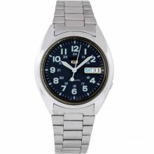 Seiko Men's SNX805K Silver Stainless-Steel Automatic Watch with Blue